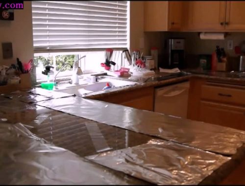 How To Keep Kitties Off Of Counter Tops!!!Cat  aluminum foil and packing tape