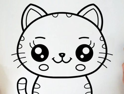 HOW TO DRAW A CUTE KITTEN