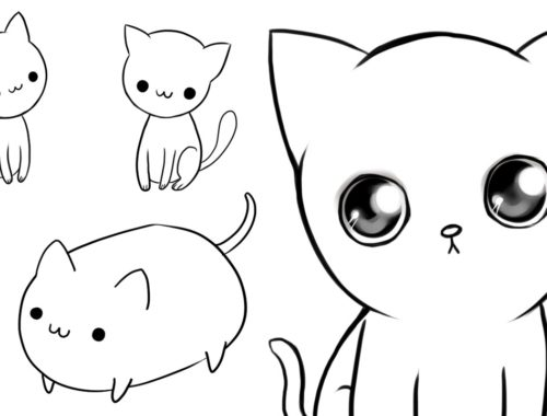 3 ways to draw cute cats